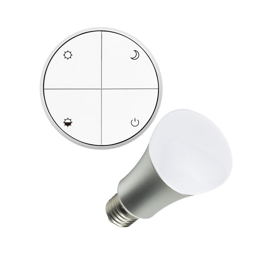 wireless lichtschalter reguliebar set mit led gl hbirne 8w ledkia deutschland. Black Bedroom Furniture Sets. Home Design Ideas