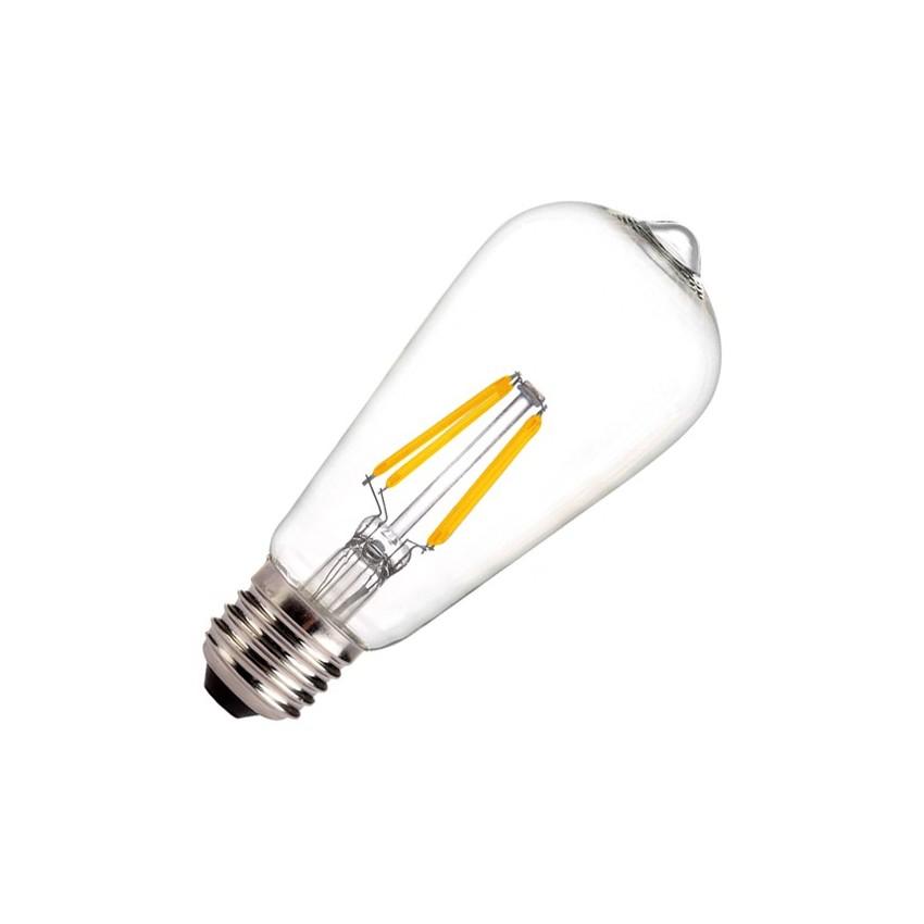 led lampe e27 dimmbar filament zitrone st58 5 5w ledkia deutschland. Black Bedroom Furniture Sets. Home Design Ideas