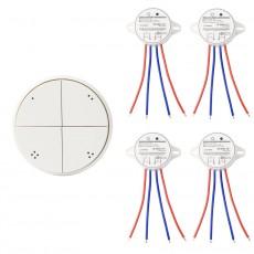 Interruptor Wireless de 4 Bandas