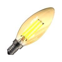 LED-Lampe E14 Dimmbar Filament Classic Gold  C35 3.5W