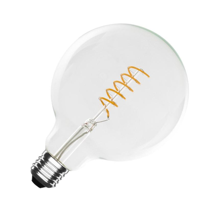 led lampe e27 filament spirale supremme g125 4w ledkia. Black Bedroom Furniture Sets. Home Design Ideas