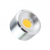 LED-Deckenleuchte COB Silber Design 7W