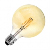 LED-Lampe E27 G125 6W   Filament Supreme Gold Dimmbar
