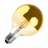 LED-Lampe E27 G125 6W  Filament Reflect Supreme Gold Dimmbar