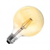 LED-Lampe E27 G95 6W Filament Planet Gold Dimmbar