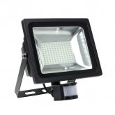 LED-Flutlichtstrahler SMD 50W mit Detektor 120ml/W