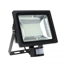 Foco Proyector LED con Detector Blanco Neutro 50W