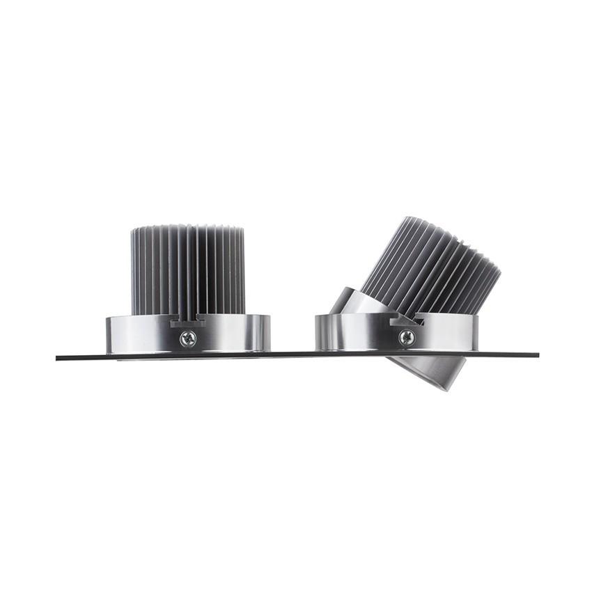 led downlight einbauleuchte schwenkbar rechteckig 2x3x1w. Black Bedroom Furniture Sets. Home Design Ideas