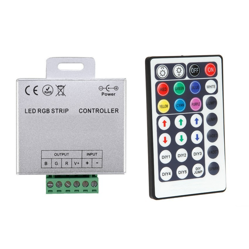 controller rgb led strips 12 24v dimmer ber rf fernbedienung mit 28 druckkn pfen ledkia. Black Bedroom Furniture Sets. Home Design Ideas
