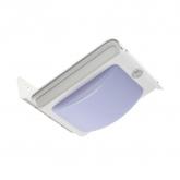 LED Wandleuchte Solar PIR-Sensor Silber River