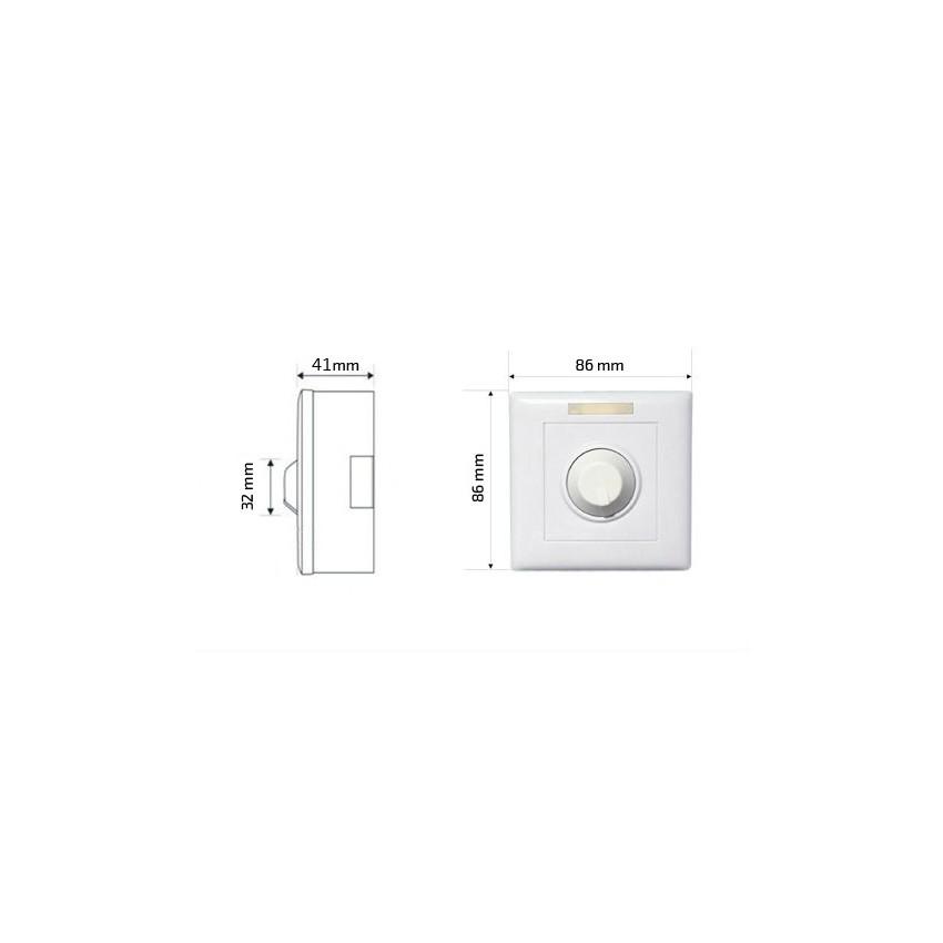 variateur de puissance led triac 300w avec t l commande ir ledkia france. Black Bedroom Furniture Sets. Home Design Ideas