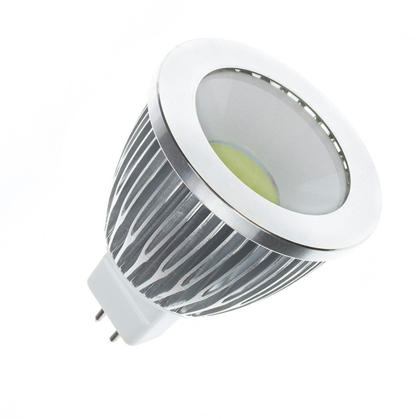 Ampoule led gu5 3 cob 220v ac 90 5w ledkia france for Lampade led 220v
