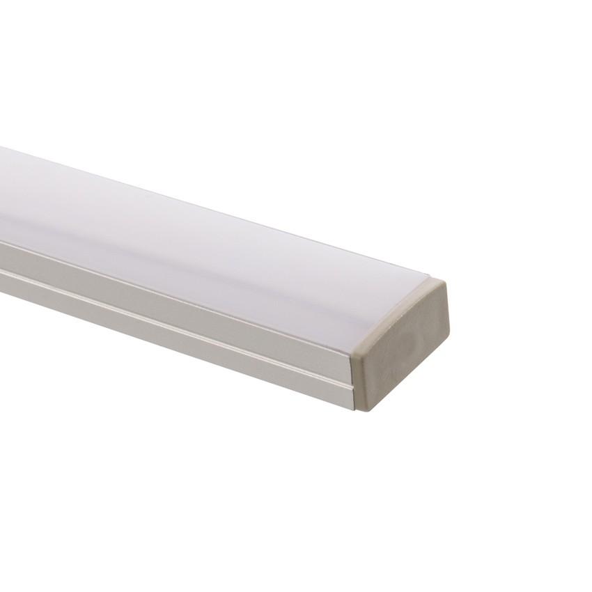Profil en aluminium 1m pour rubans 120 led m b39 ledkia - Profile pour ruban led ...
