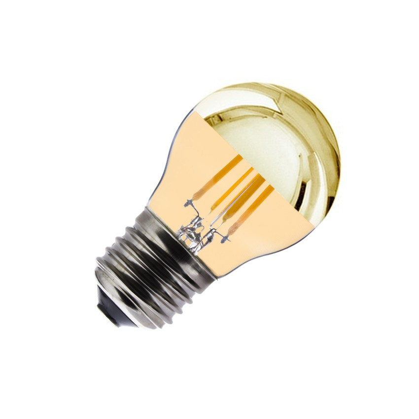 Ampoule led e27 dimmable filament gold reflect g45 3 5w ledkia france - Ampoule led dimmable ...