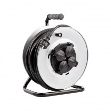Enrouleur électrique 50M 4 prises IP44  Noir