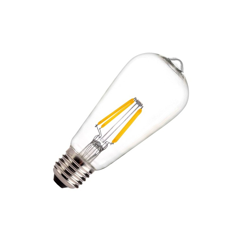 Ampoule led e27 dimmable filament lemon st58 5 5w ledkia france - Ampoule led dimmable ...