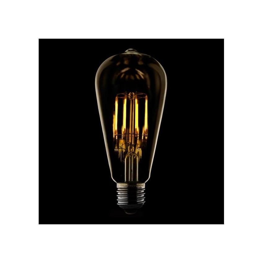 ampoule led e27 dimmable filament lemon st58 5 5w ledkia france. Black Bedroom Furniture Sets. Home Design Ideas