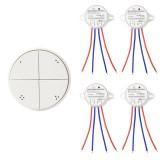 Interrupteur Poussoir Sans Fil 4 Boutons + 4 Récepteurs