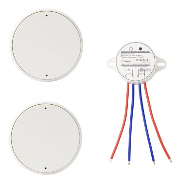 Interrupteur Poussoir Sans Fil 1 Boutons 2x1 Récepteur