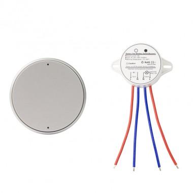 Interrupteur sans fil  Argenté + Récepteur