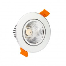 Foco LED Downlight Circular COB 18W Plata