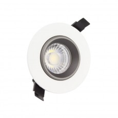 Foco LED Downlight Circular COB 15W Blanco y Negro