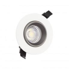 Foco LED Downlight Circular COB 15W Blanco y Negro