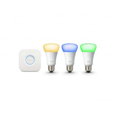 kit de d marrage philips hue 3xe27 9w white and color ambiance ledkia france. Black Bedroom Furniture Sets. Home Design Ideas