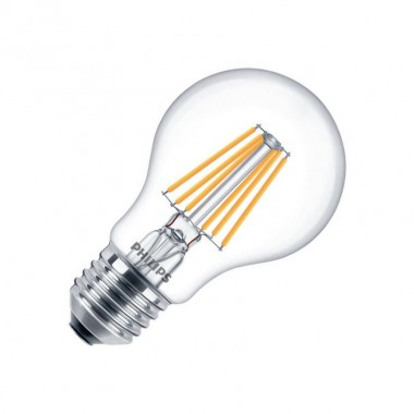 ampoule led e27 dimmable filament philips cla a60 4 5w ledkia france. Black Bedroom Furniture Sets. Home Design Ideas