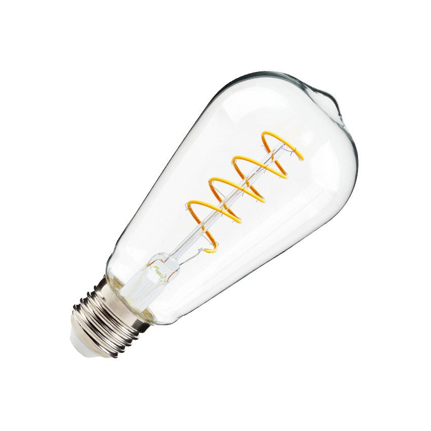 Ampoule led e27 dimmable filament spirale big lemmon st64 4w ledkia france - Ampoule led dimmable ...