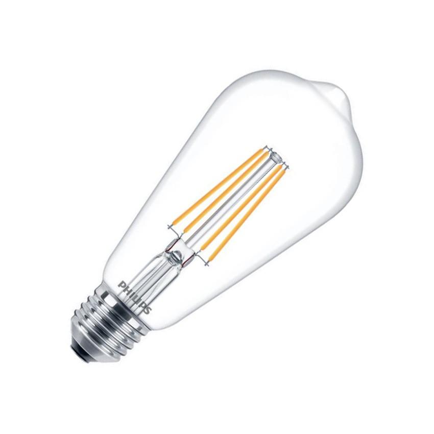 ampoule led e27 st64 filament philips cla 7w ledkia france. Black Bedroom Furniture Sets. Home Design Ideas