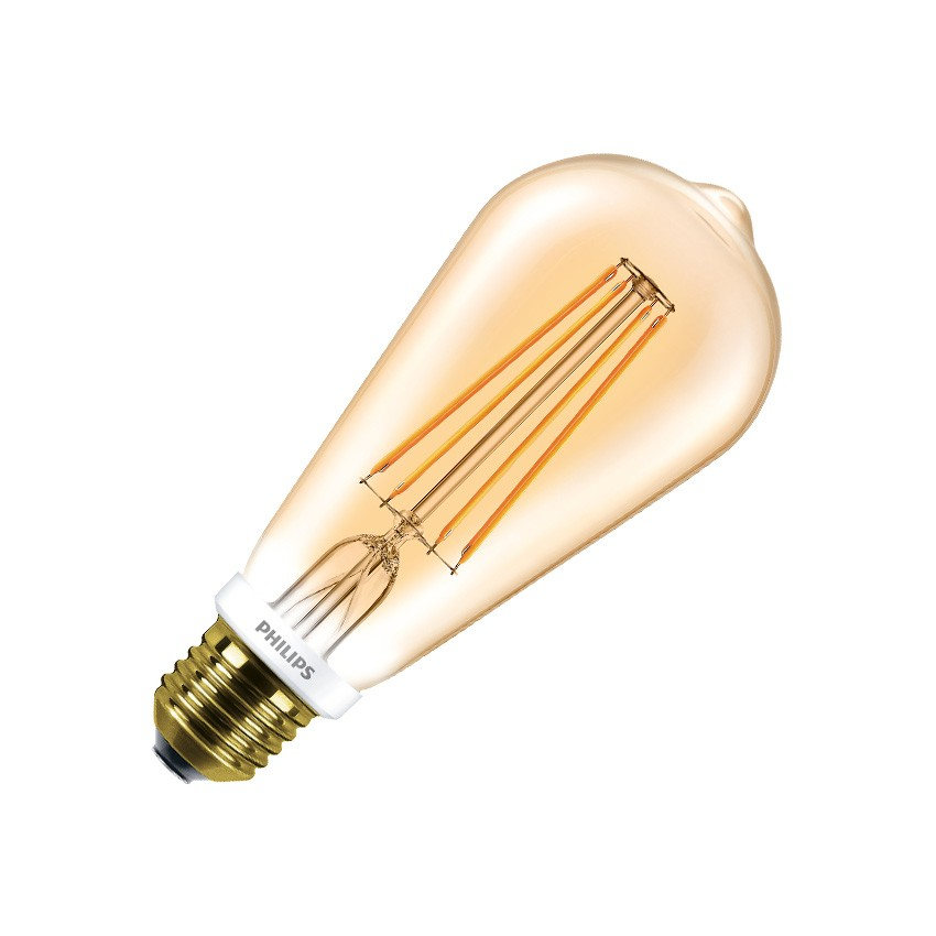 ampoule led e27 st64 philips dimmable filament cla 7w gold ledkia france. Black Bedroom Furniture Sets. Home Design Ideas