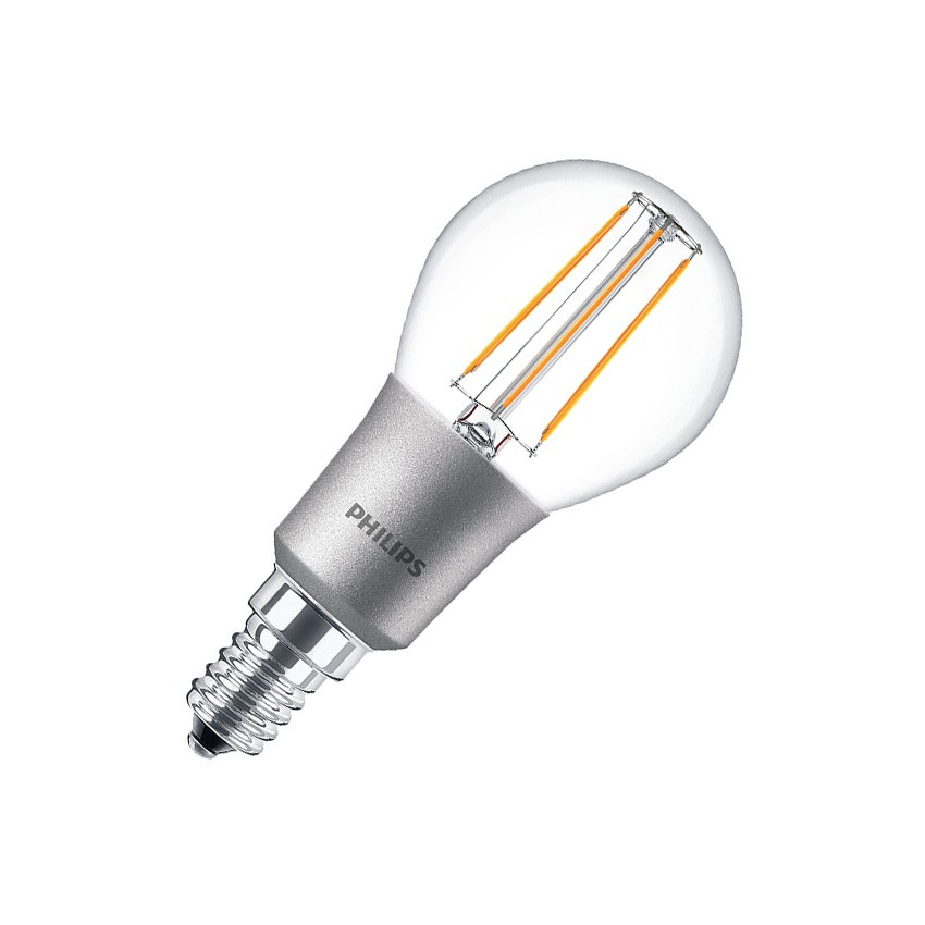 Ampoule led e14 p45 philips dimmable filament luster cla 4 5w ledkia france - Ampoule led dimmable ...