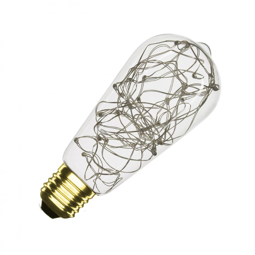 ampoule led e27 dimmable filament lum lemmon rgb st58 1w ledkia france. Black Bedroom Furniture Sets. Home Design Ideas