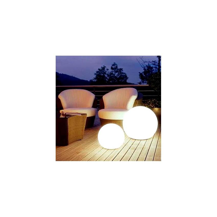 Sph re led rgbw 20cm rechargeable ledkia france for Sphere led exterieur