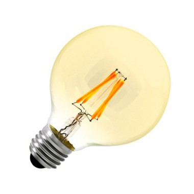 Ampoule LED E27 Dimmable Filament Globe Gold G80 6W