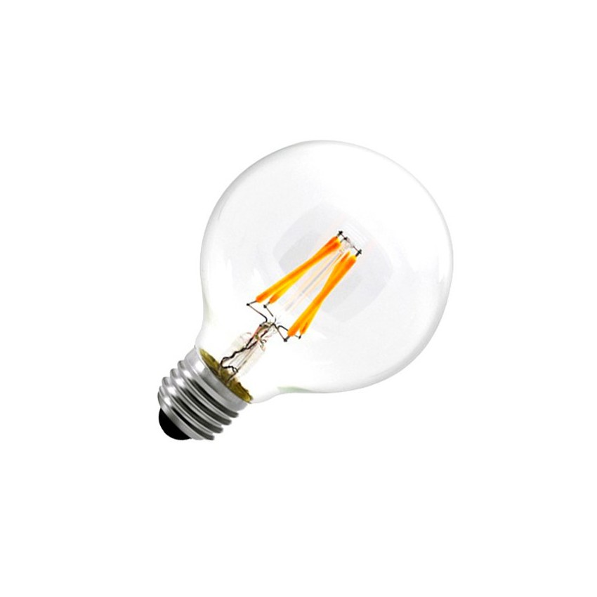 Ampoule led e27 dimmable filament globe g80 6w ledkia france - Ampoule led dimmable ...