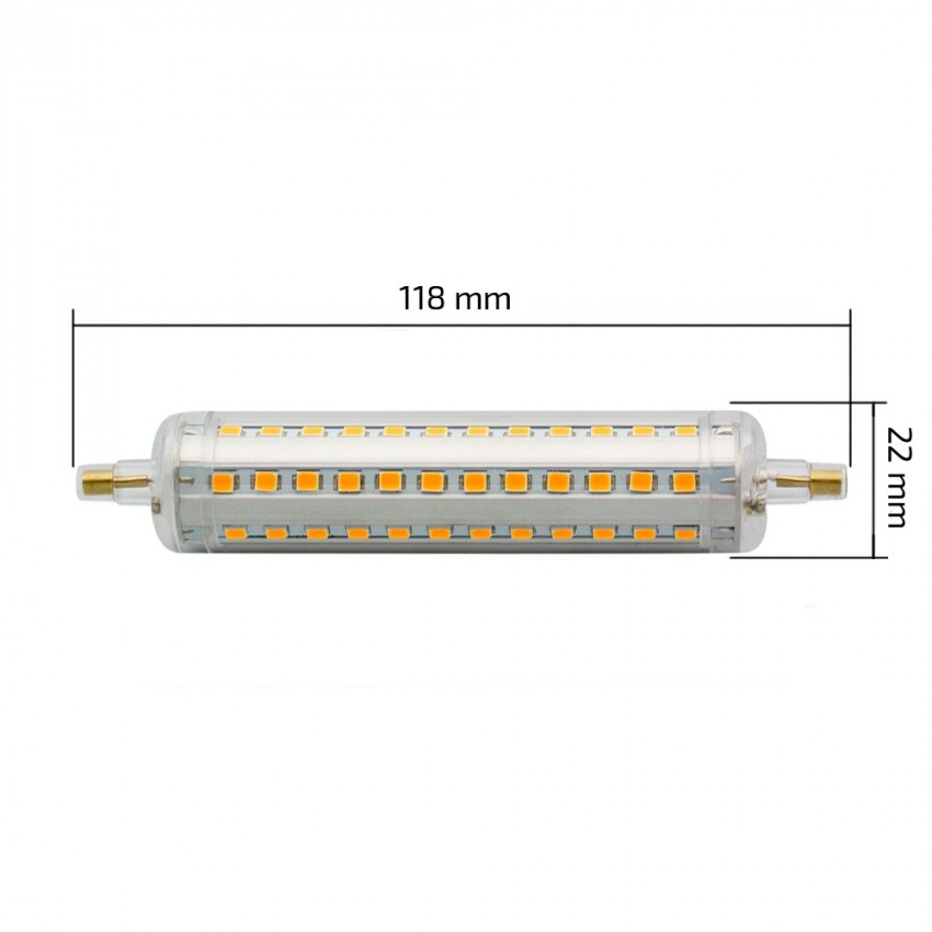 Ampoule led r7s dimmable slim 118mm 10w ledkia france for Lampadina r7s led 78mm