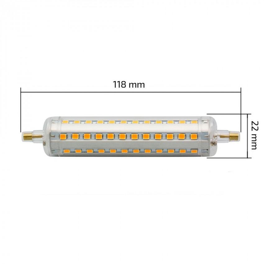 ampoule led r7s dimmable slim 118mm 10w ledkia france. Black Bedroom Furniture Sets. Home Design Ideas