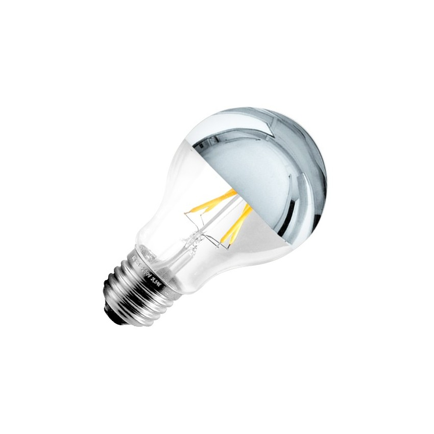 Ampoule led e27 dimmable filament reflect a60 6w ledkia france - Ampoule led dimmable ...