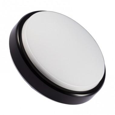 plafonnier led rond hublot 12w black ledkia france. Black Bedroom Furniture Sets. Home Design Ideas