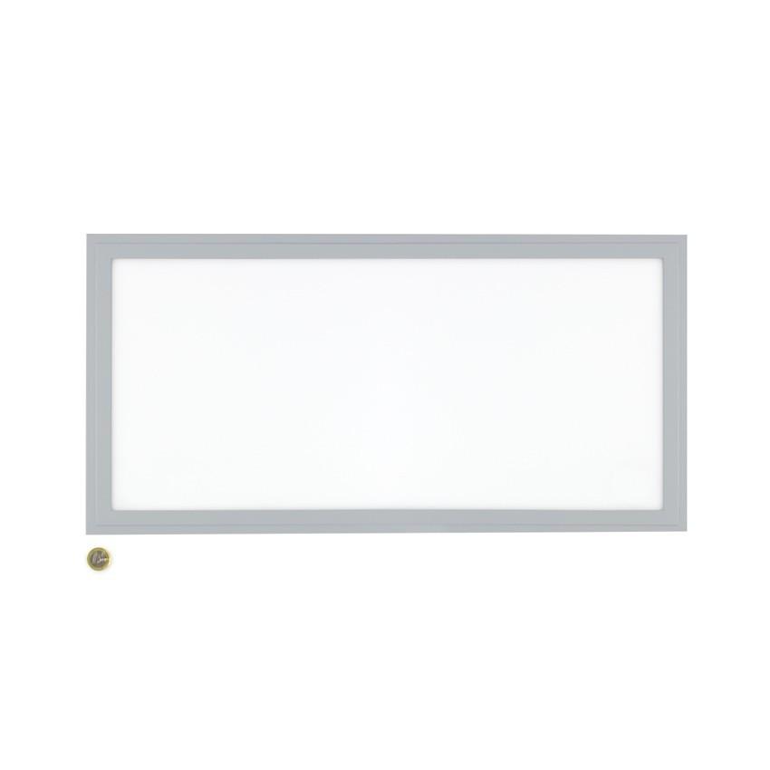 panneau led slim 60x30cm 32w cadre argent ledkia france. Black Bedroom Furniture Sets. Home Design Ideas