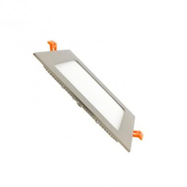 Dalle LED Carrée Extra Plate LED 12W Cadre Argenté
