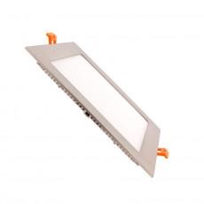 Dalle LED Carrée Extra Plate LED 15W Cadre Argenté