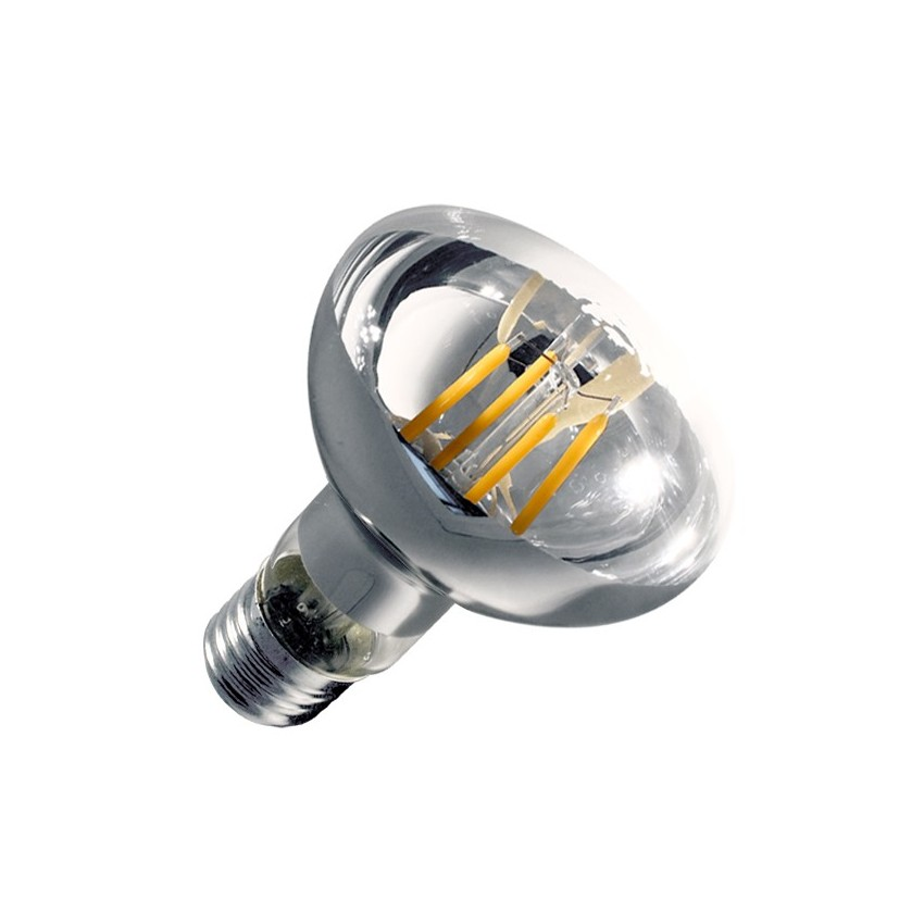 Ampoule led e27 dimmable filament r80 6w ledkia france - Ampoule led dimmable ...