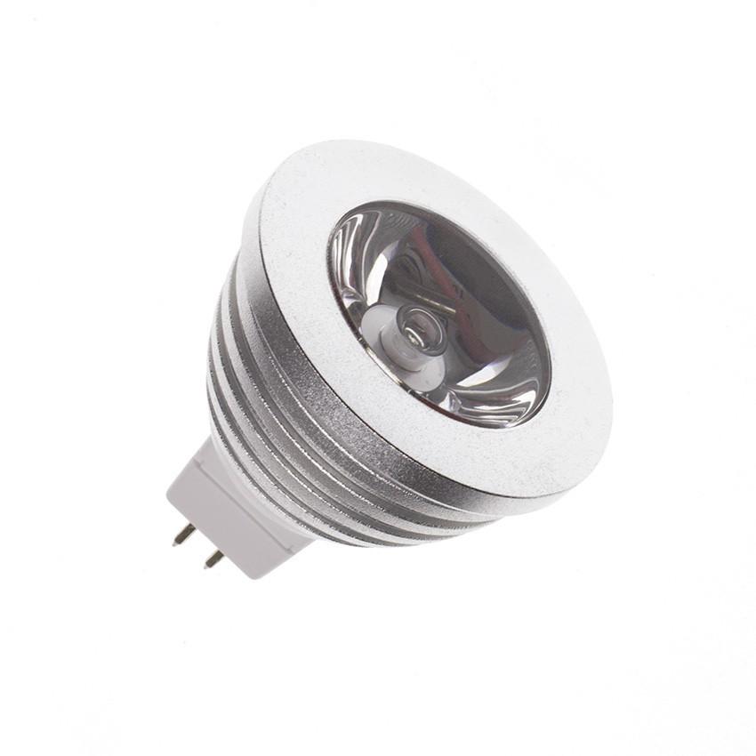ampoule led gu5 3 mr16 12v dc rgb 60 3w ledkia france. Black Bedroom Furniture Sets. Home Design Ideas