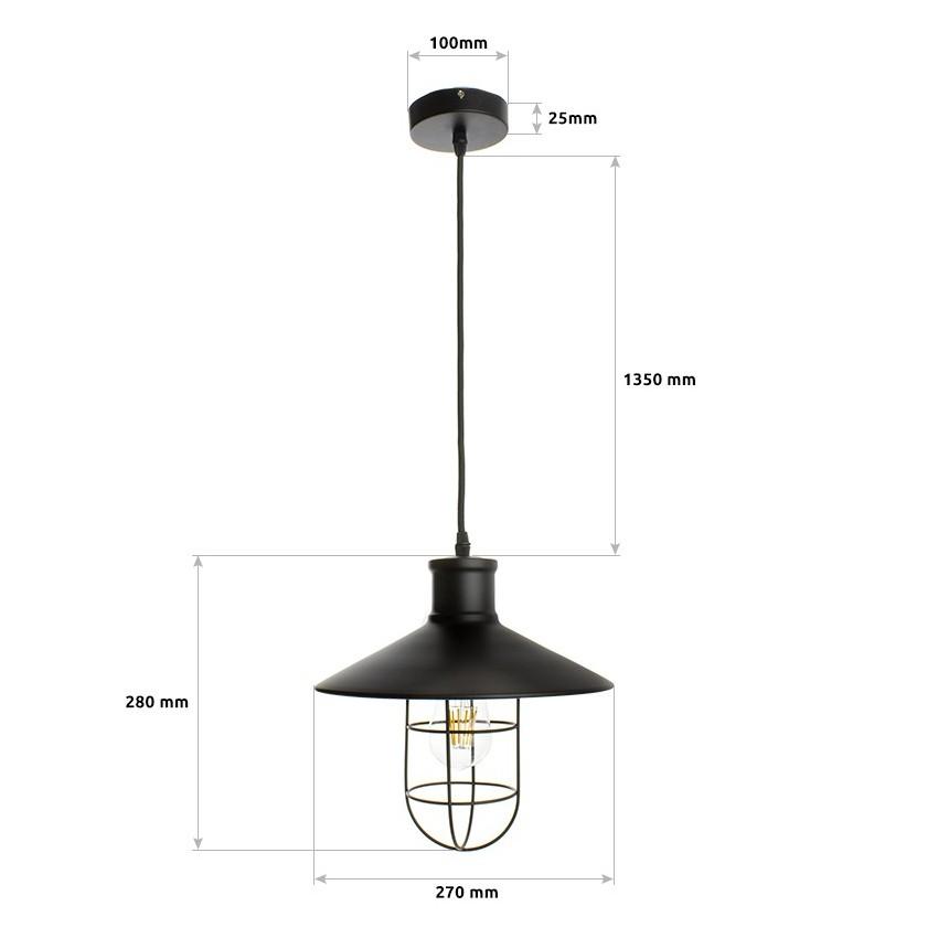 Lampe suspendue redding ledkia france for Lampe suspendue