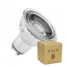 Pack 5 Lámparas LED GU10 COB Cristal 220V 7W