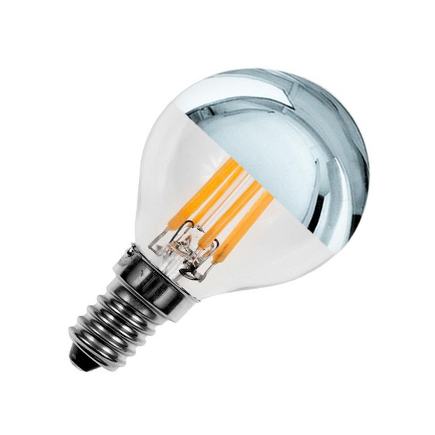 Ampoule led e14 dimmable filament reflect g45 3 5w ledkia france - Ampoule led dimmable ...