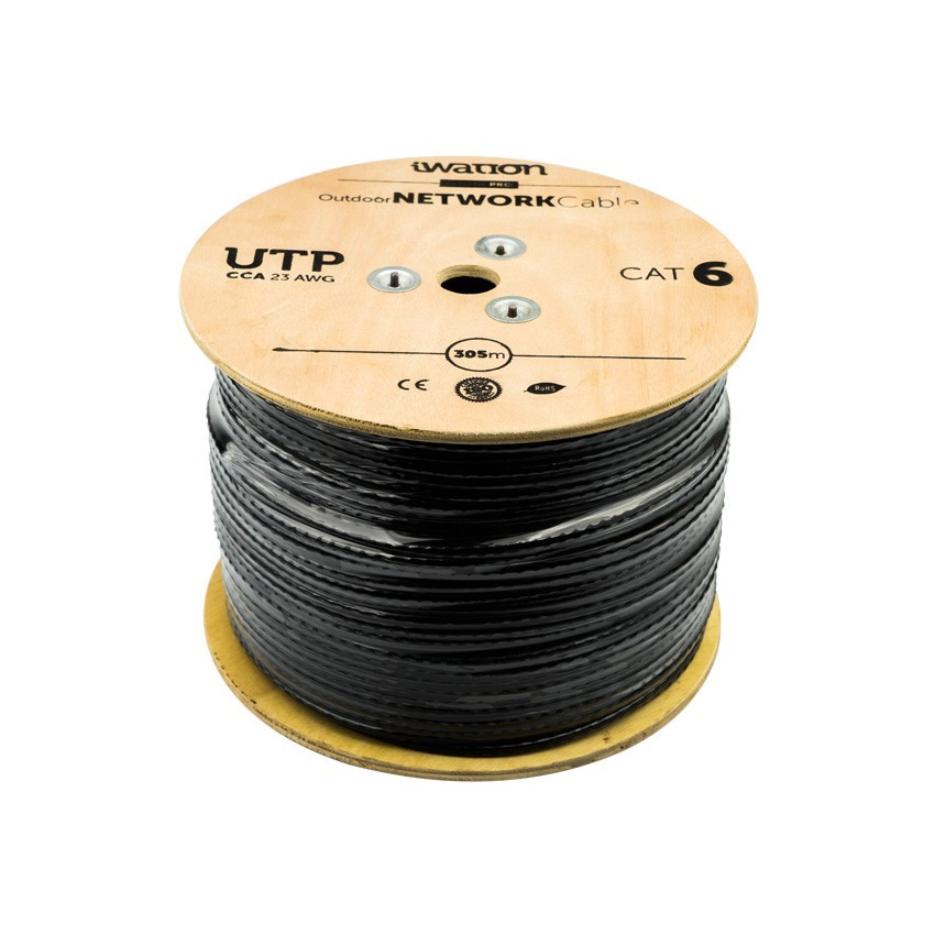 305m c ble utp cat6 cuivre aluminium ext rieur ledkia france for Cable de telephone exterieur